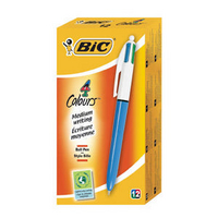 Bic 4-Colour Retractable Ball point Pen Blue/Black/Red/Green 801867-0