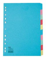 Elba A4 10-Part Card Divider Assorted 100080806-0
