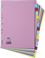 Elba Card Divider A4 15-Part Assorted 100080774-0