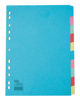 Elba A4 Extra Wide 10-Part Card Dividers Assorted M57274120-0