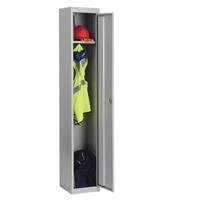 Bisley 1 Door Locker 305x305x1802mm Goose Grey-0