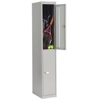Bisley 2 Door Locker 305x305x1802mm Goose Grey-0