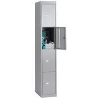 Bisley 4 Door Locker 305x305x1802mm Goose Grey-0