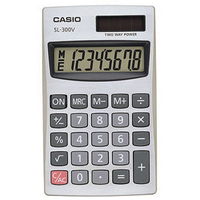 Casio SL-300V Pocket Calculator 8-digit-0