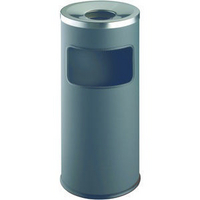 Durable Waste Bin Safe Round Ashtray Charcoal 3332/58-0