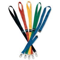 Durable Textile Badge Necklace 20mm Black Pk10 8137/01-0