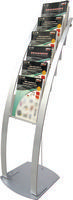 Deflecto 6-Pocket Floor Stand Silver DE693145-0