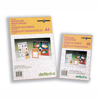 Deflecto Slanted Sign Holder A5 Clear-0