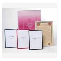 A4 Certificate Frames Metal Black/Gold PACFA4B