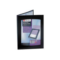 Rexel Clearview Display Book A5 24-Pocket Black 10410Black