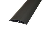 D-Line Black Light Duty Floor Cable Cover 80mm Wide 9m Long CC-1/9M-0