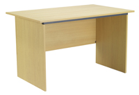 Jemini Intro Panel End Desk 1000mm Oak KF74126-0