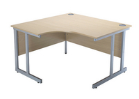 Jemini Intro 1200mm Radial Left Hand Cantilever Desk Maple-0