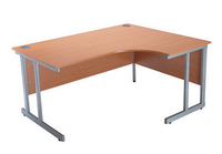 Jemini 1500mm Radial Right Hand Cantilever Desk Beech-0