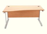 Arista 1600mm Wave Desk Left Hand Oak KF838642-0