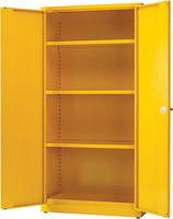 Hazardous Substance Storage Cabinet 72X48X18 inch C/W 3 Shelf Yellow 188733-0