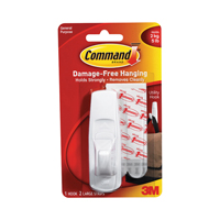 3M Command Adhesive Hook Large White 17003 Pack of 2-0