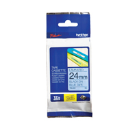 Brother P-Touch Tape 24mm Black on Blue TZE551-0