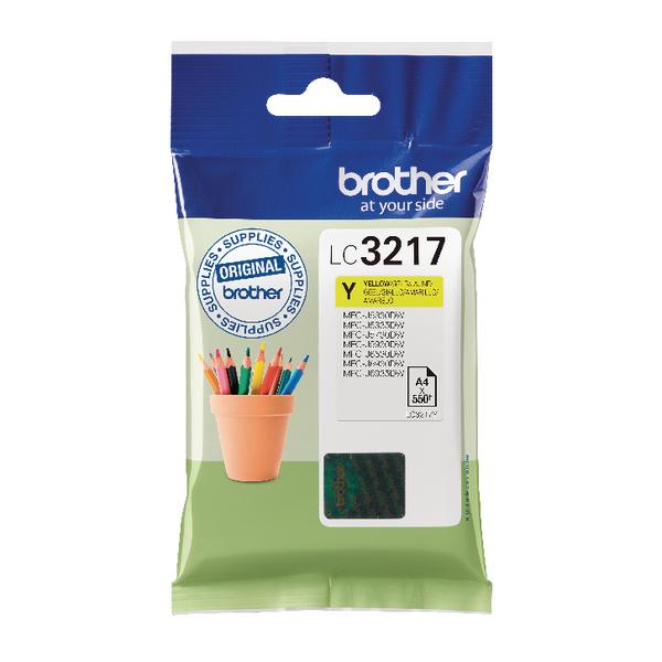Brother Yellow Standard Yield Inkjet Cartridge LC3217Y-0