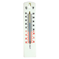Office Thermometer H200xW45mm White TP023ABS-0