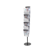 Deflecto Literature File Floor Stand A4 7 Pocket CP082YTCRY-0