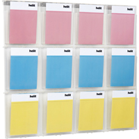 Helit Placativ Wall Display 12 x A4 Pockets Clear H6811102-0