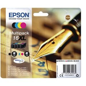 Epson 16XL Black Cyan Magenta Yellow Ink Cartridge Pack C13T16364012-0