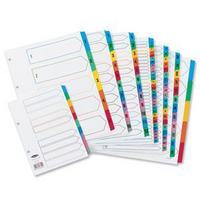 Concord Index 1-15 A4 White With Multi-Colour Tabs 01601/Cs16
