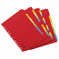 Concord Bright A4 Dividers 10-Part Assorted 50899
