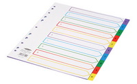 Concord Plastic Index A4 Extra-Wide A4 1-10 Multi-Colour 67199