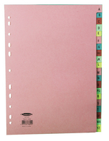 Concord Manilla Index A4 A-Z 20-Part Multi-Colour Tabs 11-Hole 78602/AZ6
