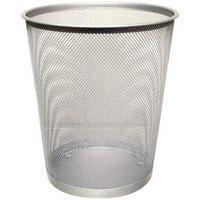 Q-Connect Waste Basket Mesh Silver KF00849