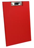 Q-Connect PVC Clipboard Foldover Red KF01302