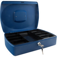 Q-Connect Cash Box 12 inch Blue KF02625