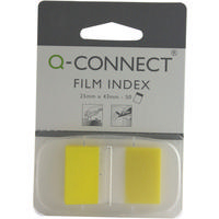 Q-Connect Page Marker 1 inch Pk50 Yellow KF03634