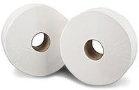 2Work Jumbo Toilet Roll 2-Ply 200 Metre Pk12 J26200