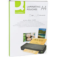 Q-Connect Laminating Pouch A4 125micron Pk100 KF04116