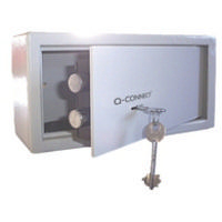 Q-Connect Key-Operated Safe 6L H150Xw200Xd200mm KF04387