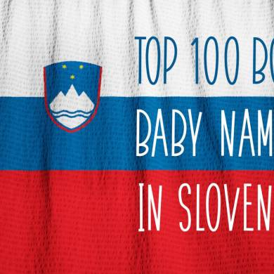 Top 100 baby names in Slovenia for boys