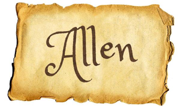 Classic boy baby names: Allen - Click Baby Names