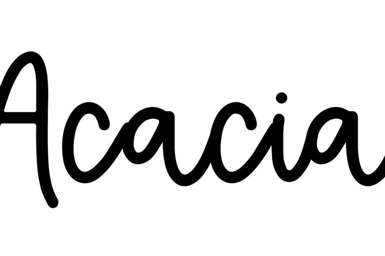 About the baby nameAcacia, at Click Baby Names.com