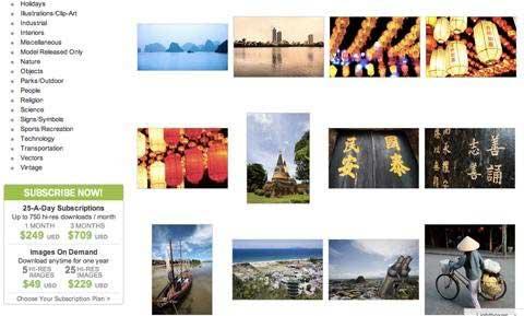 Các website bán ảnh trực tuyến tiện dụng là nơi kích cầu cả người bán và người mua.