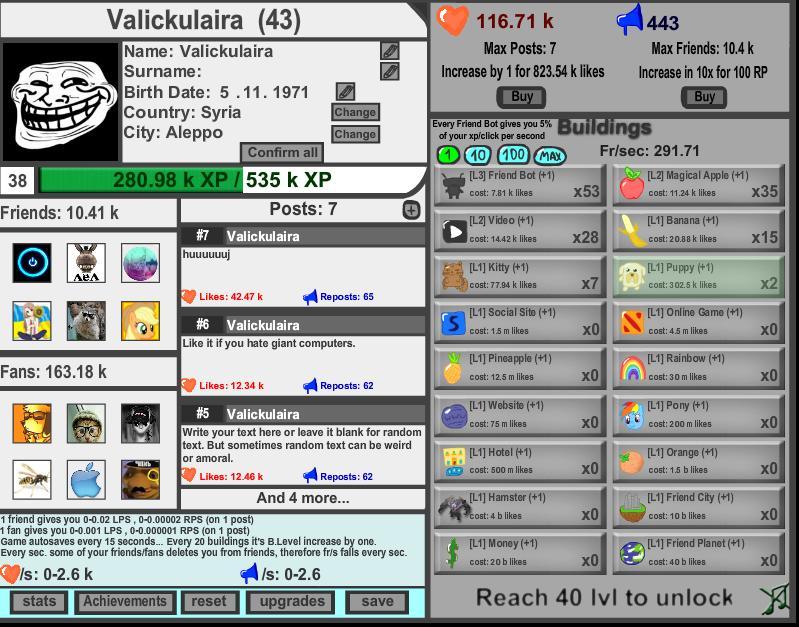 social idle clicker games