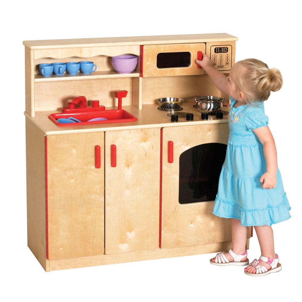 Ecr4kids Preschool Activity 4in1 Play Kitchen Center W
