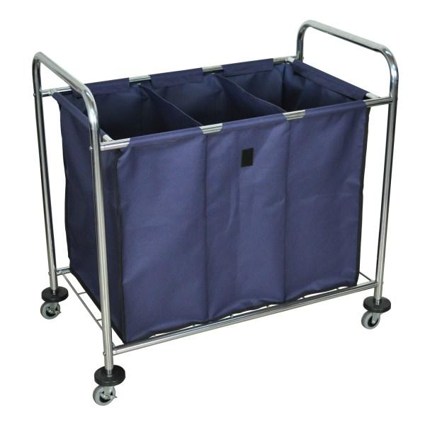 Offex Mobile Heavy Duty Industrial Laundry Sorter Cart