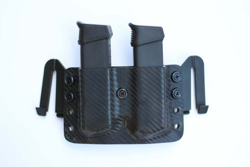 double magazine holster with speed ease clips