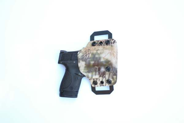 OWB Click holster with kryptec mandrake kydex print
