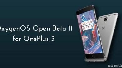 OxygenOs Open Beta 11 on OnePlus 3