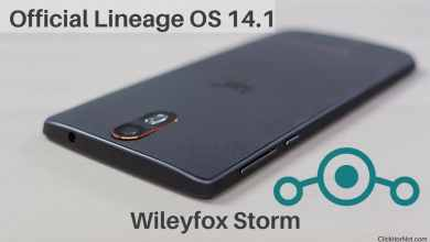 Lineage OS 14.1 on Wileyfox Storm