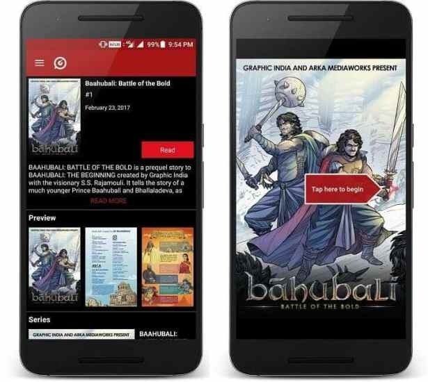 baahubali comic book